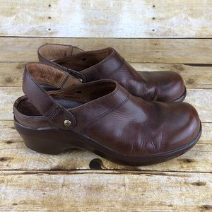 Ariat Western Leather Heel Strap Clogs